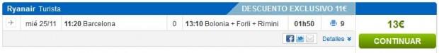 Barcelona >> Bologna