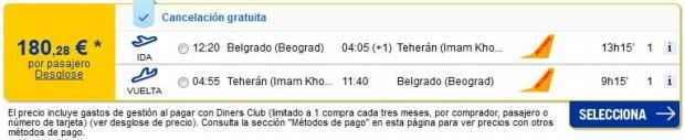 Beograd >> Teheran >> Beograd