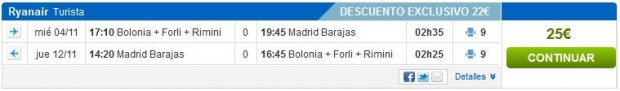Bolonja >> Madrid >> Bolonja, na rumbo.es stranicama
