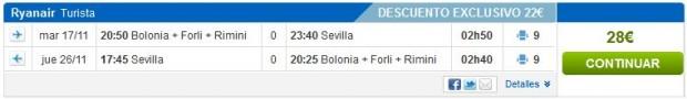 Bolonja >> Sevilja >> Bolonja, na rumbo.es stranicama