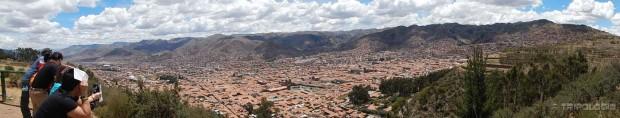 Pogled na Cusco s brda ispred kipa Cristo Blanco