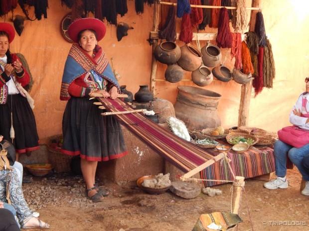 Prezentacija tradicionalnog tkanja, negdje nedaleko od Cusca