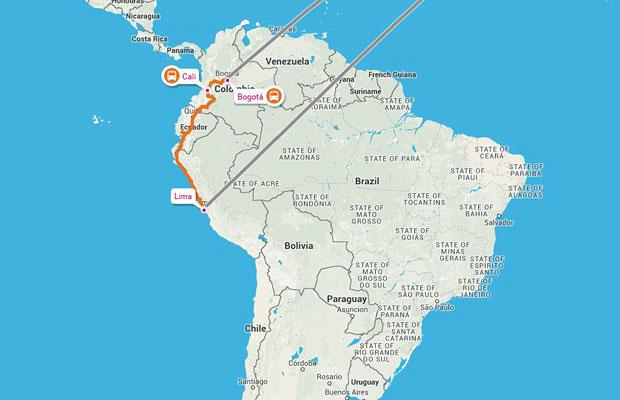 Kolumbija-map