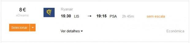 Lisabon >> Pisa