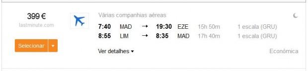 Madrid >> Buenos Aires — Lima >> Madrid