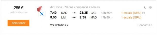Madrid >> Rio de Janeiro -- Lima >> Madrid