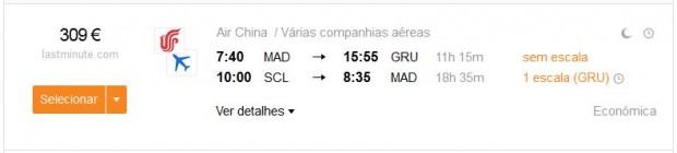 Madrid >> Sao Paulo -- Santiago >> Madrid