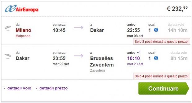 Milano >> Dakar >> Brisel