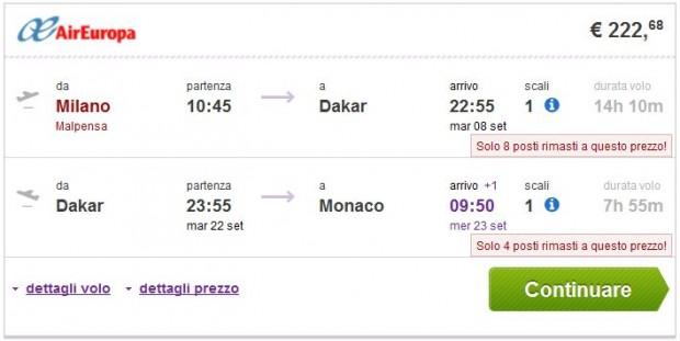 Milano >> Dakar >> Minhen