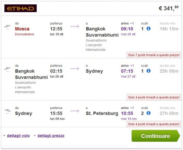 Moskva >> Bangkok >> Sydney >> St. Petersburg