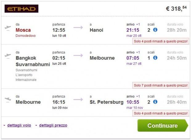 Moskva >> Hanoi -- Bangkok >> Melbourne >> St. Petersburg