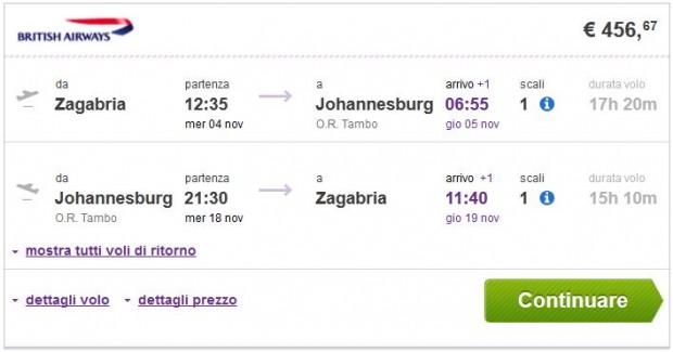 Zagreb >> Johannesburg >> Zagreb