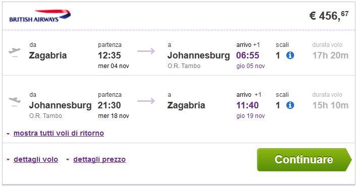 Johannesburg Iz Zagreba 456 Iz Splita 467