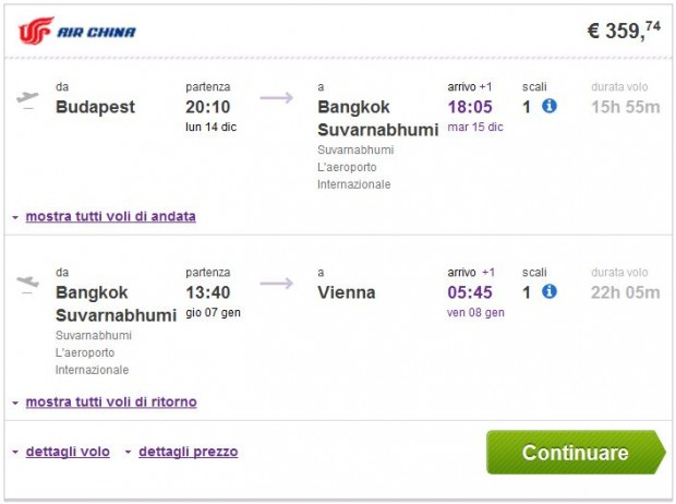 Budimpešta >> Bangkok >> Beč