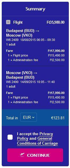 Budimpešta >> Moskva >> Budimpešta
