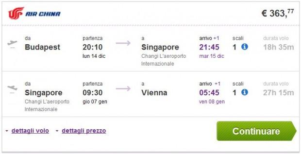 Budimpešta >> Singapur >> Beč
