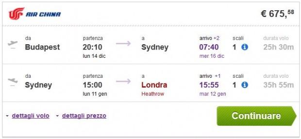 Budimpešta >> Sydney >> London