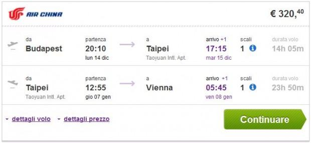 Budimpešta >> Taipei >> Beč