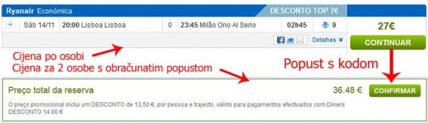Lisabon >> Milano (Bergamo)