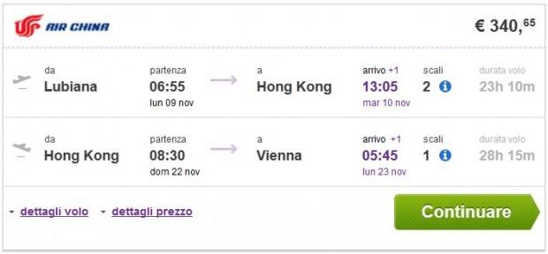 Ljubljana >> Hong Kong >> Beč