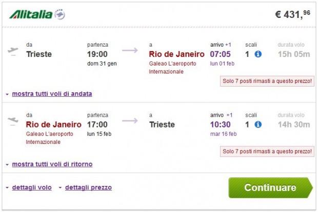 Trst >> Rio de Janeiro >> Trst