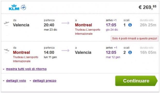 Valencia >> Montreal >> Valencia