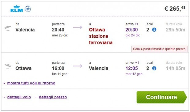 Valencia >> Ottawa >> Valencia