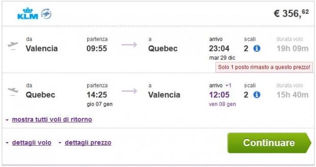 Valencia >> Quebec >> Valencia