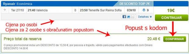 Valencia >> Tenerife, na rumbo.pt stranicama