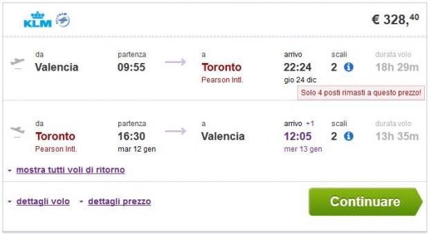 Valencia >> Toronto >> Valencia