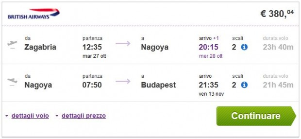 Zagreb >> Nagoya >> Budimpešta