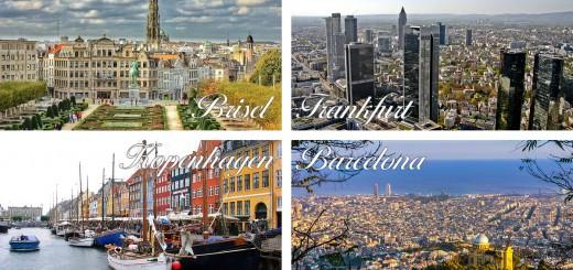 Brisel-Frankfurt-Kopenhagen-Barcelona