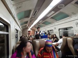 Stiže večera u vlaku za Machu Picchu