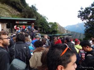 Gužva na ulazu u Machu Picchu