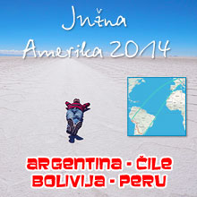 Mapa putopisa – Južna Amerika 2014.