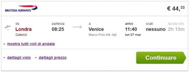 London >> Venecija