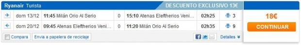 Milano (Bergamo) >> Atena >> Milano (Bergamo), na Viajar stranicama