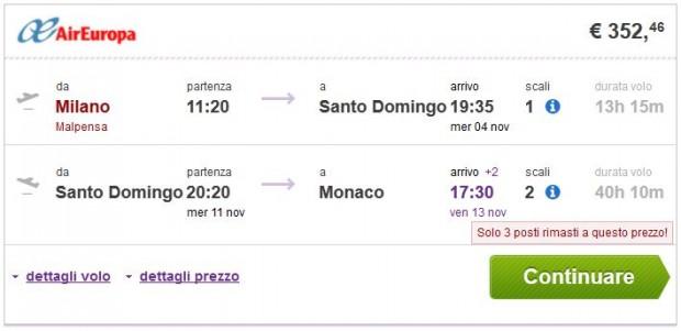 Milano >> Santo Domingo >> Minhen