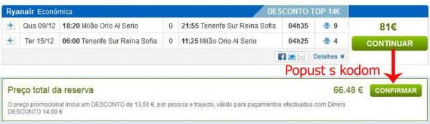 Milano (Bergamo) >> Tenerife Sth >> Milano (Bergamo)