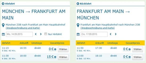 Minhen >> Frankfurt >> Minhen