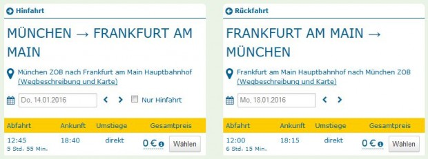 Minhen >> Frankfurt