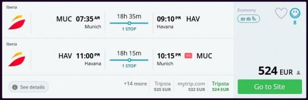 Minhen >> Havana >> Minhen