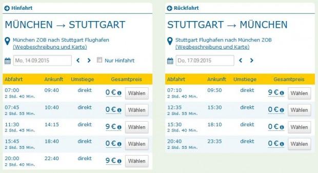 Minhen >> Stuttgart >> Minhen