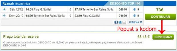 Pisa >> Tenerife Sth >> Pisa
