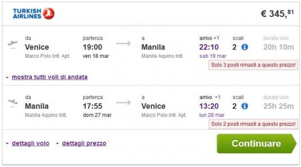 Venecija >> Manila >> Venecija