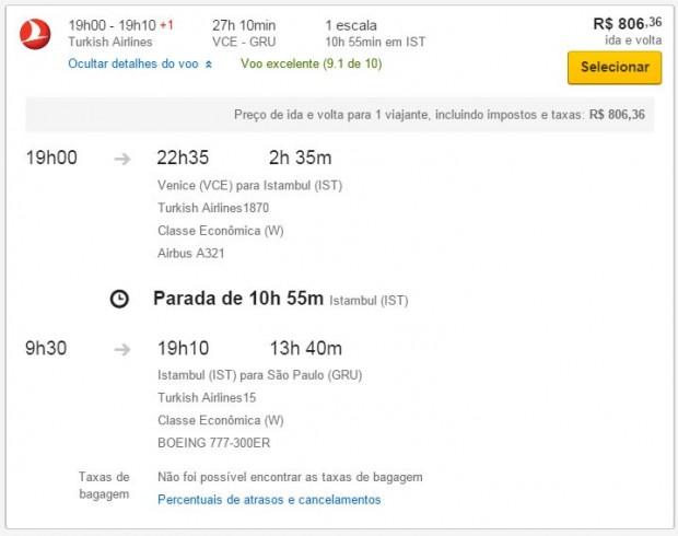 Venecija >> Sao Paulo >> Venecija