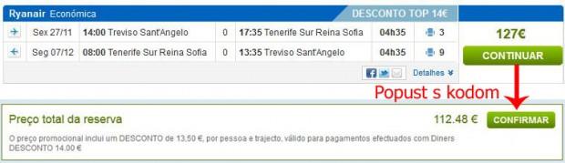 Venecija (Treviso) >> Tenerife Sth >> Venecija (Treviso)