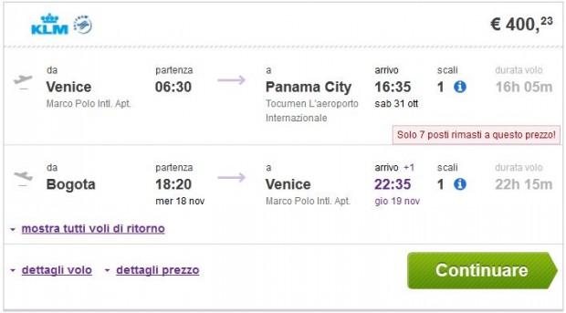 Venecija >> Panama -- Bogota >> Venecija