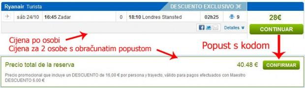 Zadar >> London