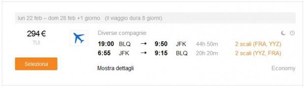 Bolonja >> New York >> Bolonja